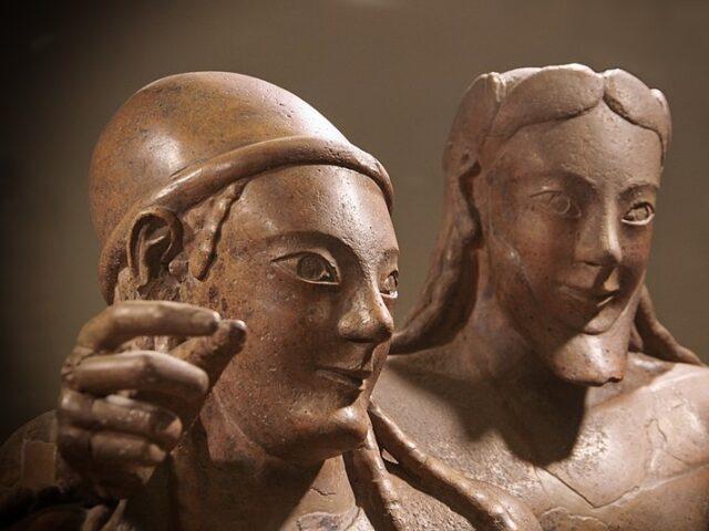 Il sarcofago degli sposi ricostruito in 3D