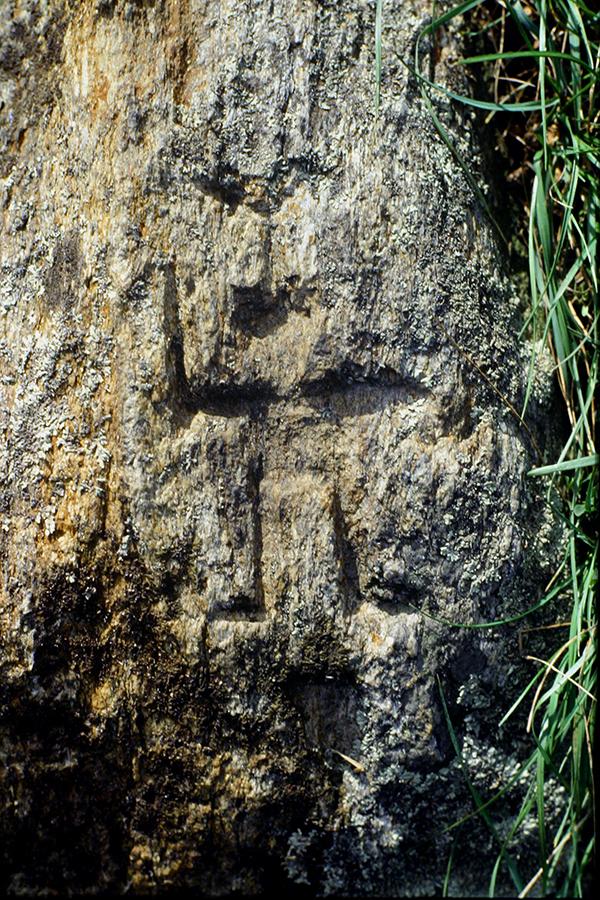 incisioni rupestri: l'antropmorfo di Valsolda