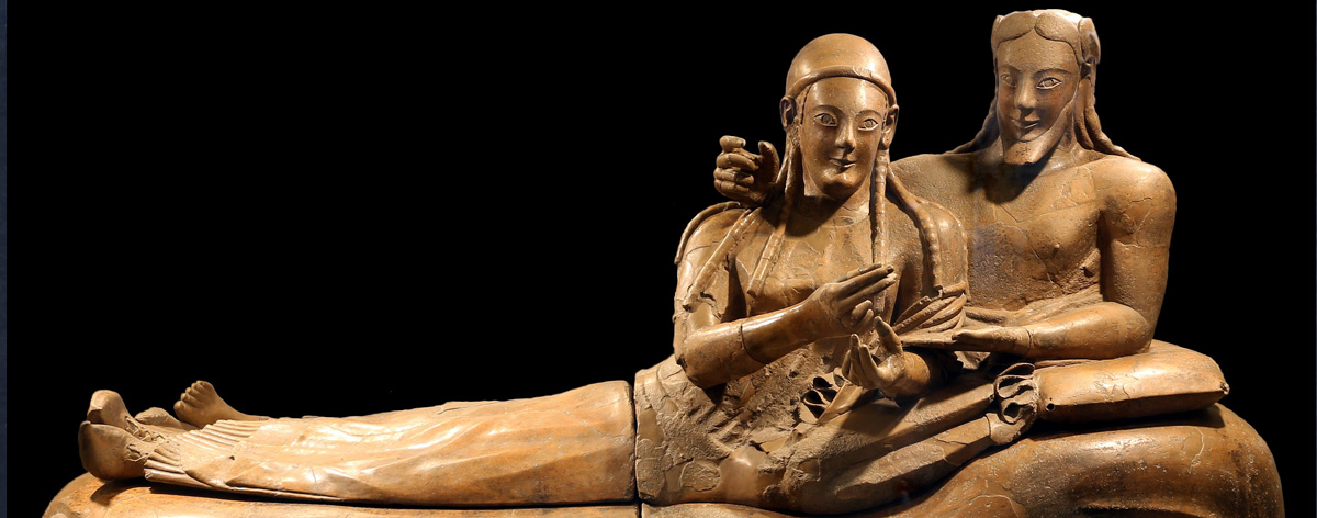 "Sarcofago Etrusco in terracotta, o ""Sarcofago degli sposi"""