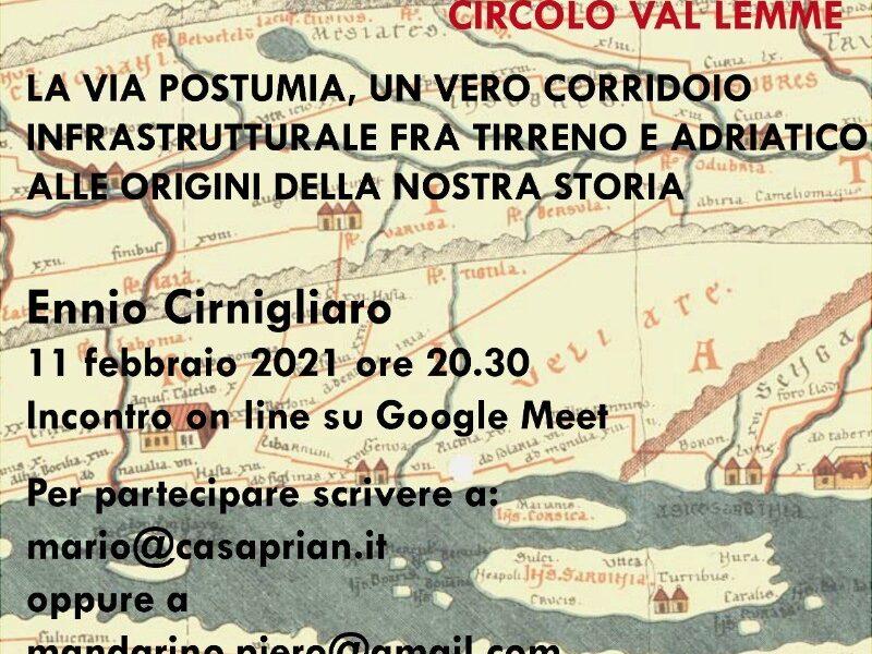 VIA POSTUMIA – Conferenza on line
