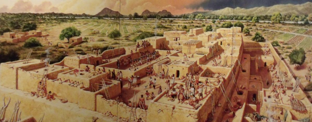 Ricostruzione del Pueblo Grande di Phoenix