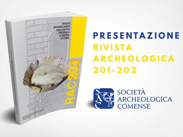 Presentazione Rivista Archeologica Comense 201-202, ANNO 2019-2020